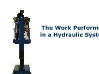 The Work Performed in a Hydraulic System