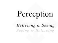 Perception- Believing Is Seeing