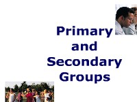 Primary and Secondary Group Identification