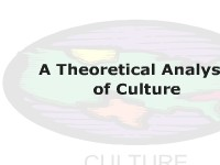 A Theoretical Analysis of Culture