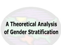 A Theoretical Analysis of Gender Stratification