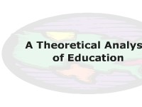 A Theoretical Analysis of Education