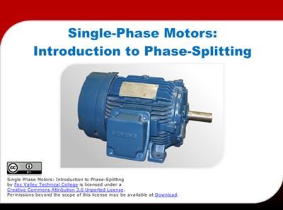 Single-Phase Motors: Introduction to Phase-Splitting