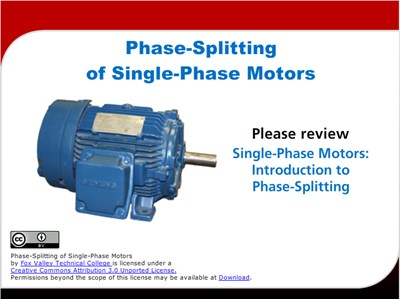 Phase-Splitting of Single-Phase Motors