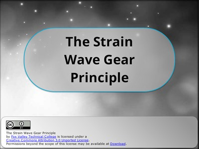 The Strain Wave Gear Principle