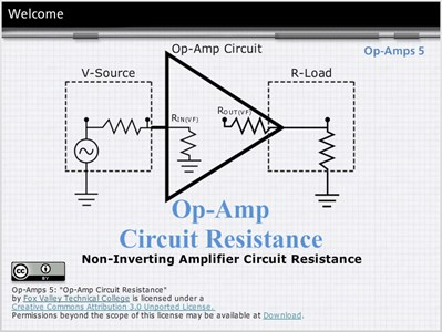 Op Amps 5: Non-Inverting Amplifier Circuit Resistance