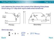 Three-Phase Delta Transformer Calculations