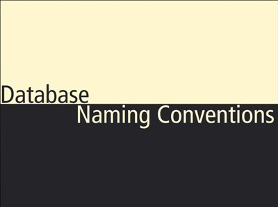 Database Naming Conventions