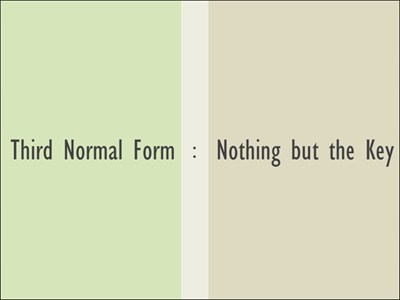 Normalization – 3rd Normal Form