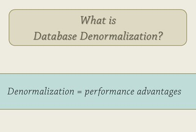 What is Database Denormalization?