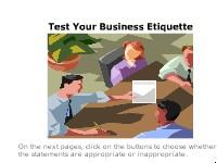 Test Your Business Etiquette