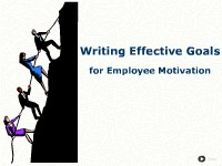 Writing Effective Goals for Employee Motivation