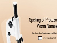 Spelling of Protozoa and Worm Names