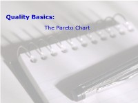 Quality Basics:  The Pareto Chart