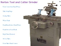 Norton Tool and Cutter Grinder Construction