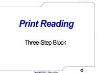 Print Reading: Three-Step Block