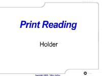 Print Reading: Holder