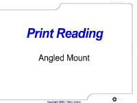 Print Reading:  Angled Mount