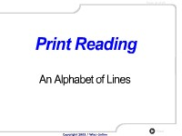 Print Reading: An Alphabet of Lines in Print Reading