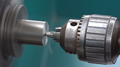 Facing and Center Drilling Using a Four-Jaw Chuck