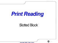 Print Reading: Slotted Block