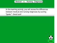 Medical vs. Nursing Diagnoses
