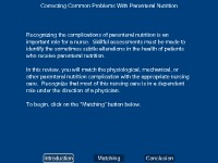 Correcting Common Problems of Parenteral Nutrition