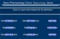 Basic Pharmacology Terms Matching Game
