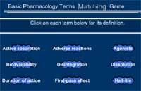 Basic Pharmacology Terms Matching Game