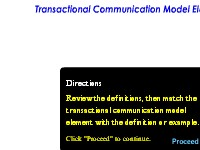 Describing the Transactional Communication Model