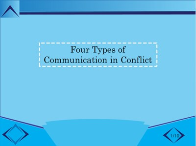 Four Types of Communication in Conflict