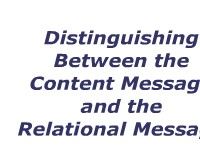 Distinguishing Between the Content Message and the Relational Message