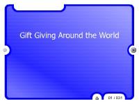 Gift Giving Around the World