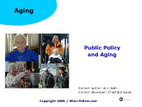Public Policy and Aging
