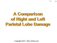 A Comparison of Right and Left Parietal Lobe Damage