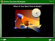 Online Success Strategies:When's Your Best Time to Study?