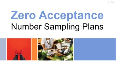 Zero Acceptance Number Sampling Plans, c=0