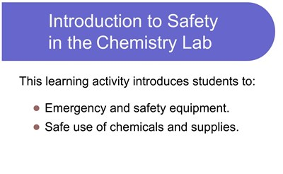 Introduction to Safety in the Chemistry Lab (Video)