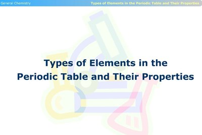 Types of Elements in the Periodic Table and Their Properties (Screencast)
