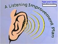 A Listening Improvement Plan