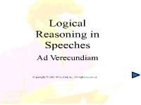 Logical Reasoning in Speeches - Ad Verecundiam