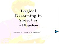 Logical Reasoning in Speeches - Ad Populum