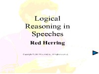 Logical Reasoning in Speeches - Red Herring