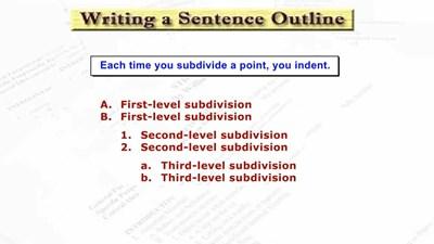Writing a Sentence Outline (Screencast)