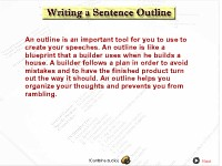 Writing a Sentence Outline