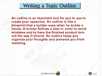 Writing a Topic Outline