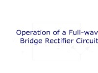 Operation of Full-Wave Bridge Rectifier