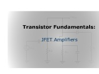 Transistor Fundamentals: JFET Amplifiers