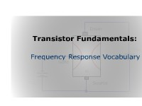 Transistor Fundamentals: Frequency Response Vocabulary