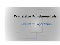 Transistor Fundamentals: Review of Logarithms